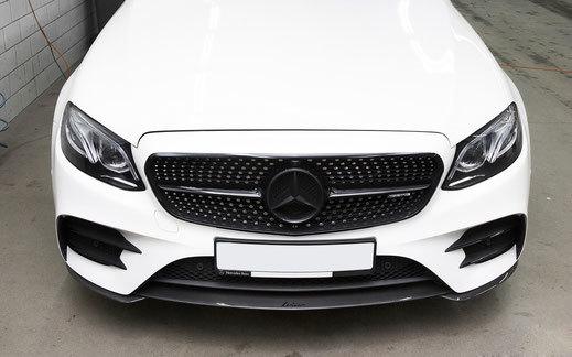 Карбоновый спойлер переднего бампера   для Mercedes E43/53 AMG W213