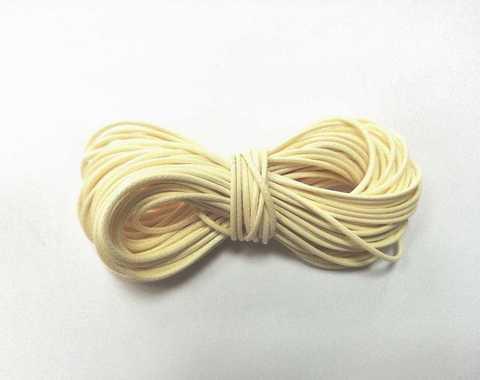 Шнур вощеный для браслетов и рукоделия 1мм*9м. Цвет антично-белый (3091)