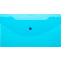 Папка конверт на кнопке А6 135x250мм,Attache 180мкм, синий, 10шт.уп