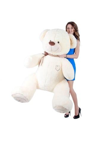 Игрушка Плюшевый медведь Феликс I Love You 190 см. Белый