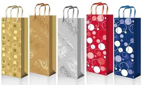 Бумажные подарочные пакеты 12х36х10 ламинированный с шнуром Premium