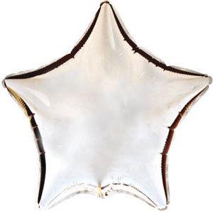 Фольгированный шар Звезда SILVER 18