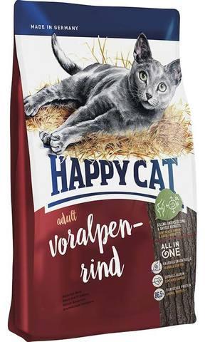 10 кг. HAPPY CAT Cухой корм для взрослых кошек с альпийской говядиной Supreme Adult Voralpen Rind