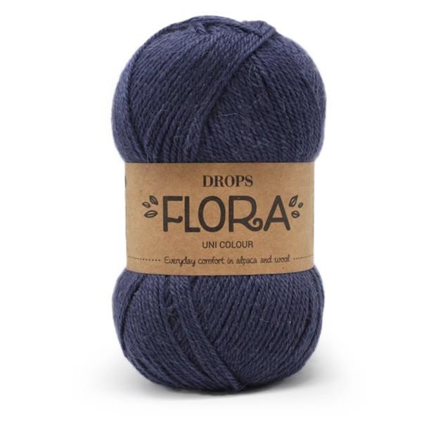 Пряжа Drops Flora 10 темно-синий