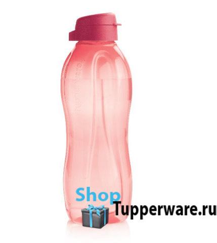 бутылка эко 1,5л с клапаном в коралловом цвете