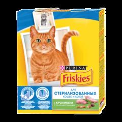 Friskies Сухой корм для стерилизованных кошек и котов с Kроликом и полезными овощами