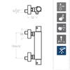 Смеситель термостатический с душевым комплектом AROLA 263402KNM черный - фото №2