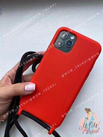 Чехол iPhone XR Silicone Case crossbody bag /red/