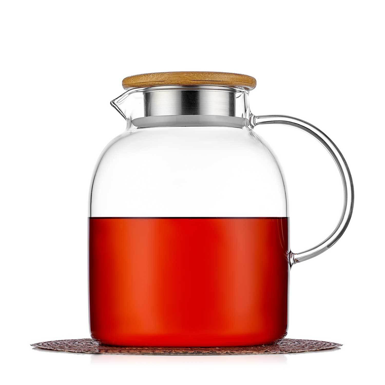 Чайники заварочные стеклянные Кувшин с фильтром в крышке большого объема 1,5 л, стеклянный для воды, сока и других напитков kuvshin-steklo-4-010-1500-teastar.jpg