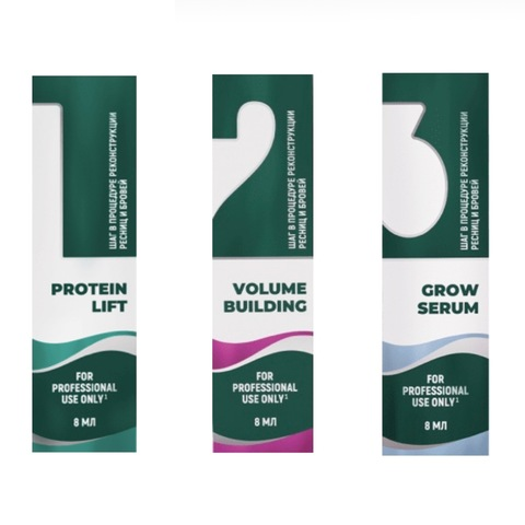 Набор для протеиновой реконструкции бровей и ресниц SEXY PROTEIN RECONSTRUCTION