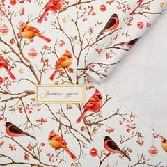 Бумага упаковочная крафтовая, «Зимних чудес!» Птицы на ветвях, 50 × 70 см, 2 листа, 1 уп.