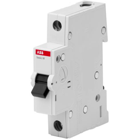 Автоматический выключатель 1-полюсный 10 A, тип C, 4,5 кА  BMS411C10. ABB. 2CDS641041R0104