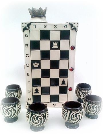 Штоф с рюмками «Шахматы», 7 предметов 0,75 л