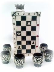 Штоф с рюмками «Шахматы», 7 предметов 0,75 л, фото 1