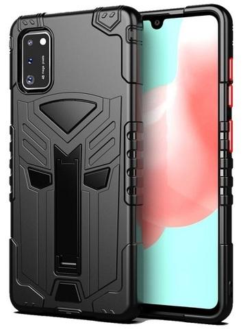 Чехол Carbon для Samsing Galaxy A41 серия Дюал | с магнитом и складной подставкой черный