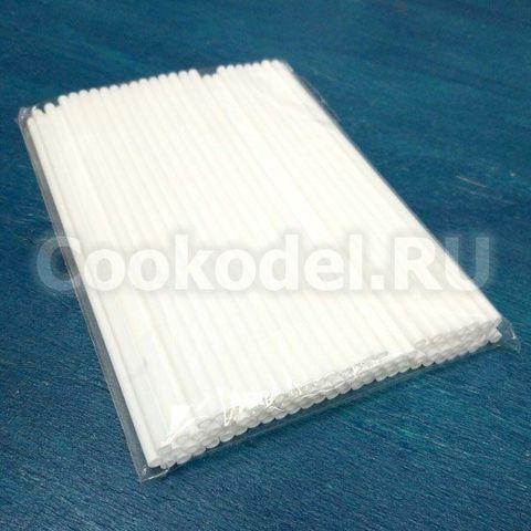 Палочки для леденцов и кейкпопсов Белые пластик 14 см/100 шт