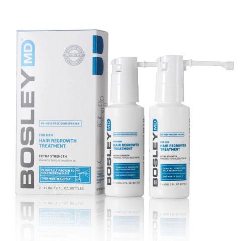 Bosley MD Hair Regrowth: Усилитель роста  волос  для мужчин (For Men Hair Regrowth Treatment  Spray), 60мл*2