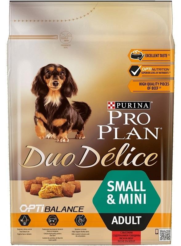Сухой корм Сухой корм, Purina Pro Plan DuoDelice, для взрослых собак мелких пород, с говядиной и рисом Pro_Plan_Duo_Delice_Small_Dog_Beef_2.5kg__front_.jpg