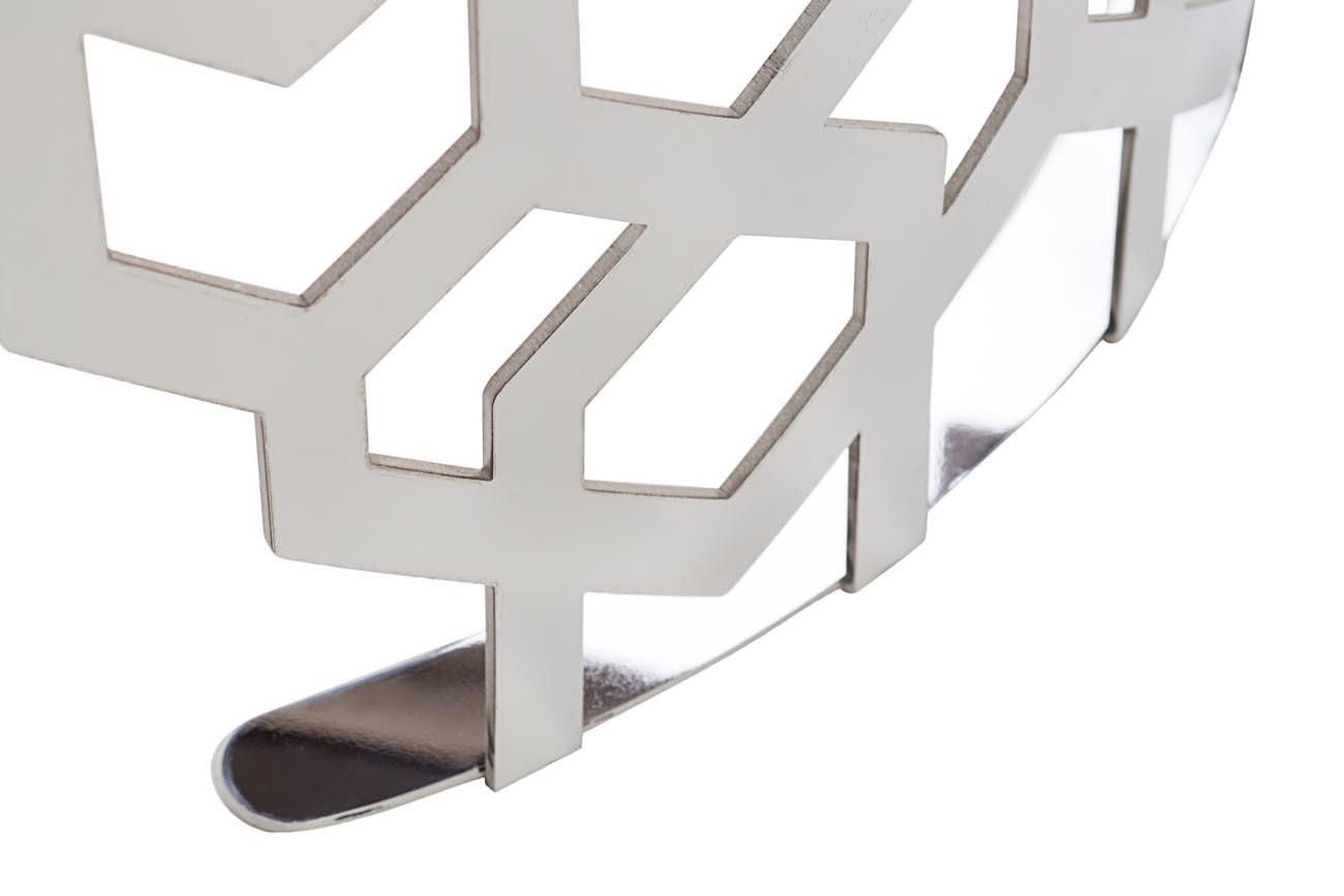 Стол журнальный 13RXET8011-SILVER черн.стекло/серебро d50*50см