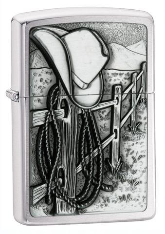 Зажигалка Zippo Classic с покрытием Brushed Chrome, латунь/сталь, серебристая, матовая, 36x12x56 мм123