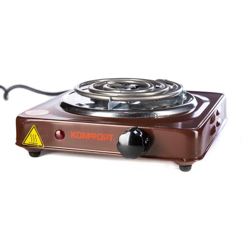 Электрическая плита Комфорт 1000 Вт 1 конфорка Коричневая