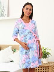 Мамаландия. Комплект для беременных и кормящих с отрезной кокеткой, ягоды/мультицвет
