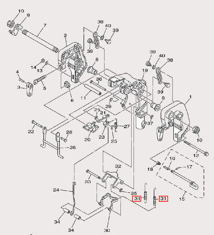 Пружина для лодочного мотора F9,9 Sea-PRO (21-31)