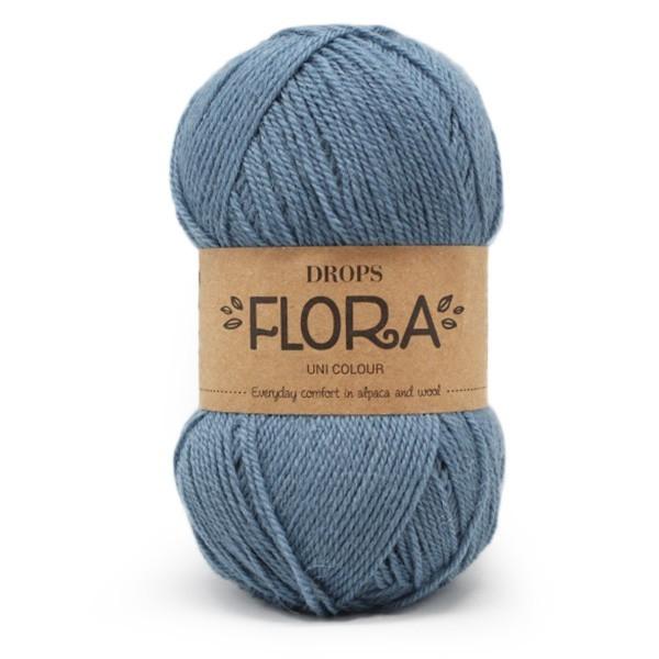 Пряжа Drops Flora 13 темный джинс