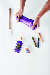 Клей для слайма Elmer's Glitter Glue блестящий фиолетовый 177 мл