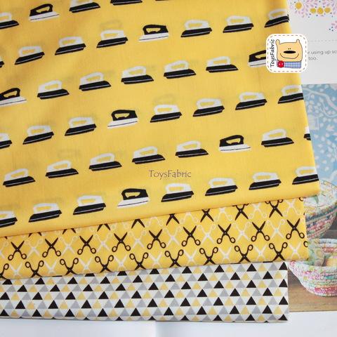 Набор тканей для пэчворка 51806 Утюги/ножницы (45х35см/3шт.)
