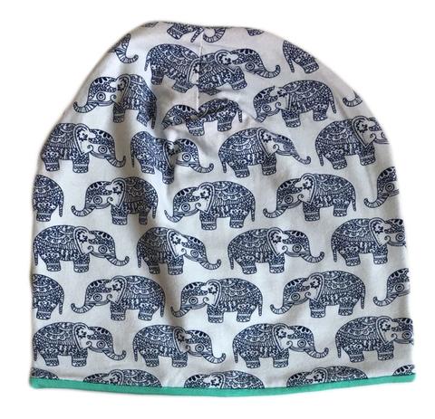 Детская шапочка бини с принтом Индийские слоны