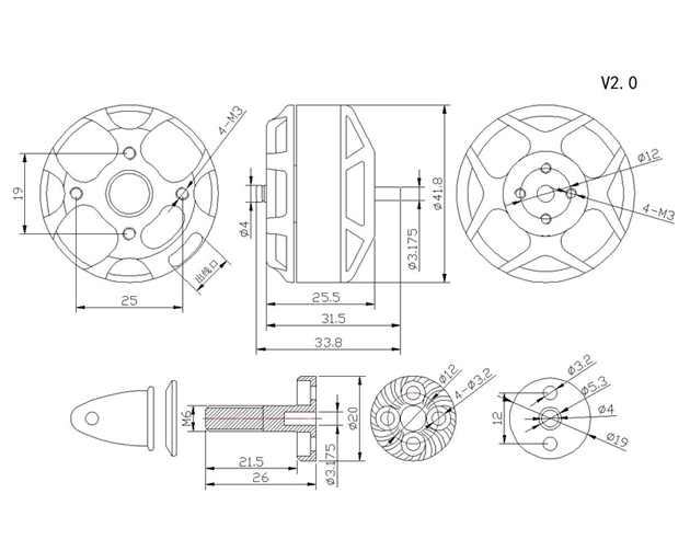 Схема SunnySky V3508 KV580