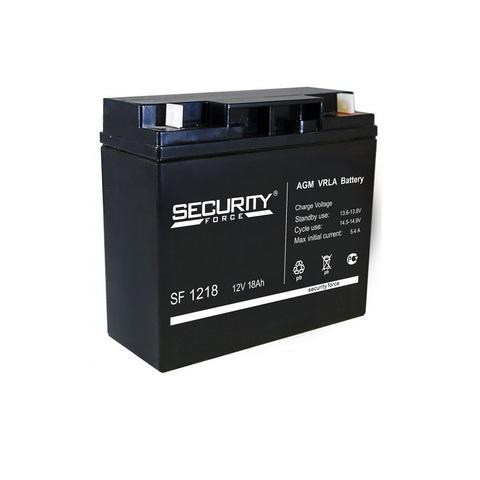 Аккумулятор для эхолота Security Force SF-1218, 12В, 18.0Ah