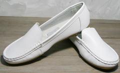 Модные мокасины женские AESD 902 White