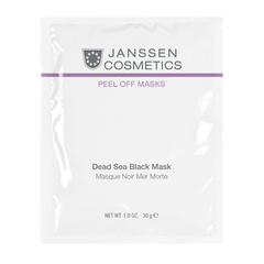 Альгинатная маска на основе грязи мёртвого моря JANSSEN PEEL OFF MASKS: Black Dead Sea Mask, 1 шт