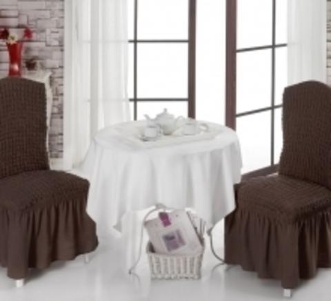 Чехлы на стулья (2 шт) цвет коричневый
