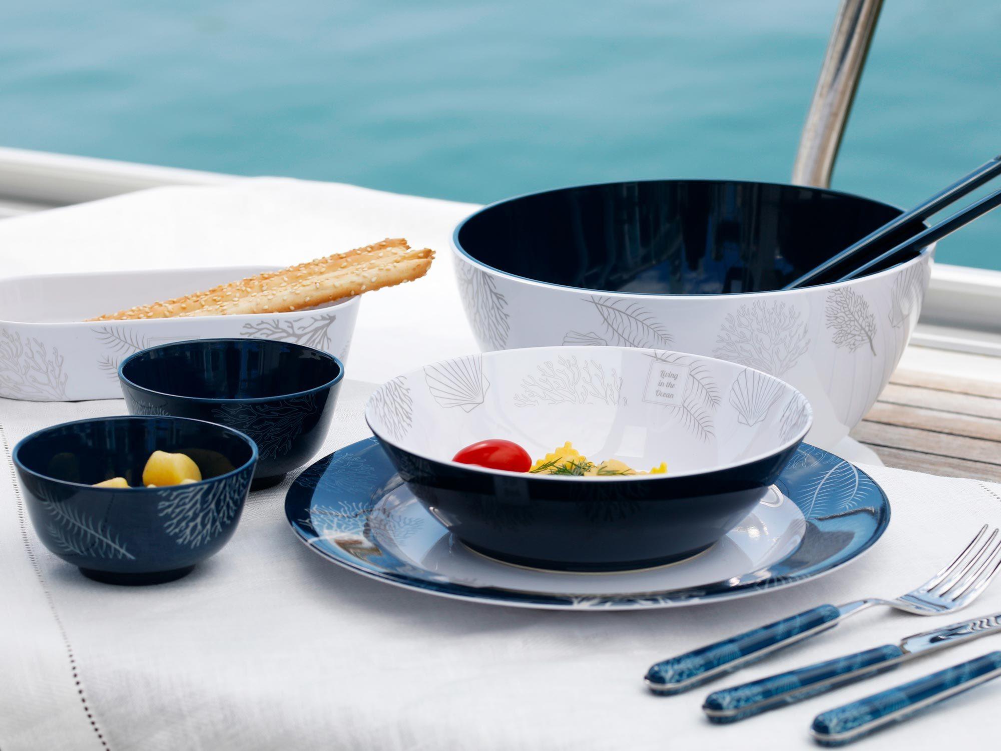 Melamine appetizer set, Living