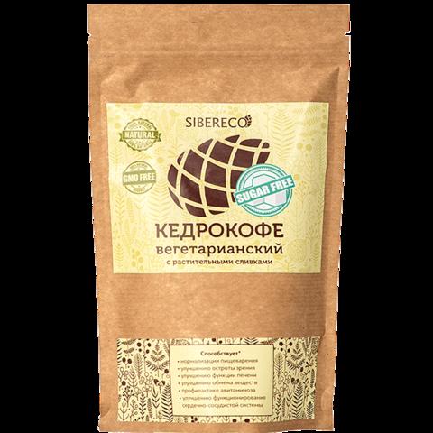 Кедрокофе Вегетарианский, без сахара, пакет 250 г