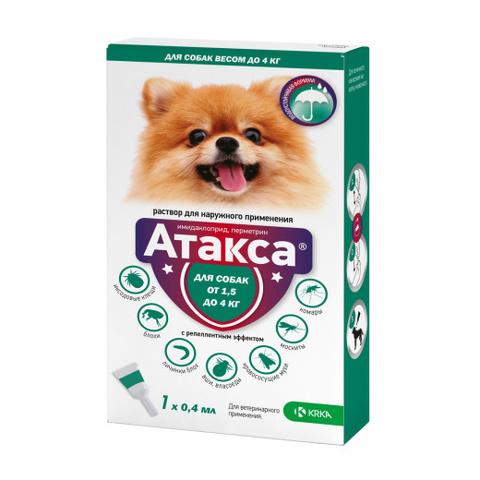 Атакса 1 мл. капли для собак от 1,5 кг до 4 кг