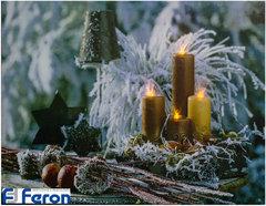 Световая картина «Золотые свечи» (Feron)