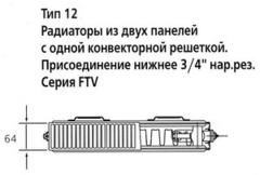 Радиатор Kermi FTV 12 300х600