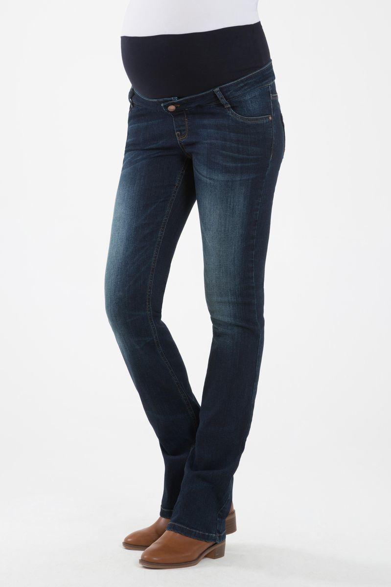 Фото джинсы для беременных GEBE, широкий бандаж от магазина СкороМама, синий, размеры.
