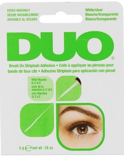 DUO Brush On Striplash Adhesive Clear бесцветный клей для накладных ресниц с кисточкой 5г