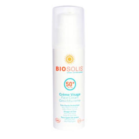 BIOSOLIS Крем солнцезащитный для лица SPF50+,  50 мл