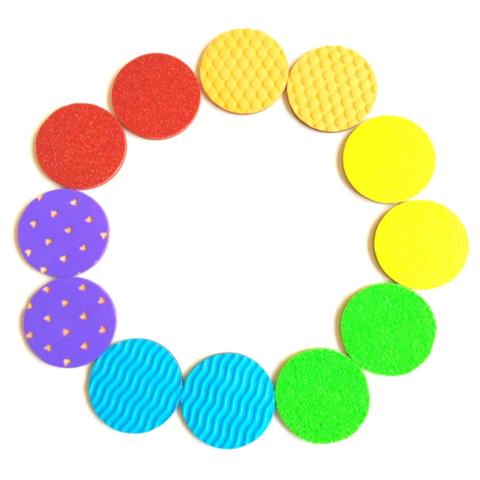 Тактильные дощечки-парочки цветные Сенсорика