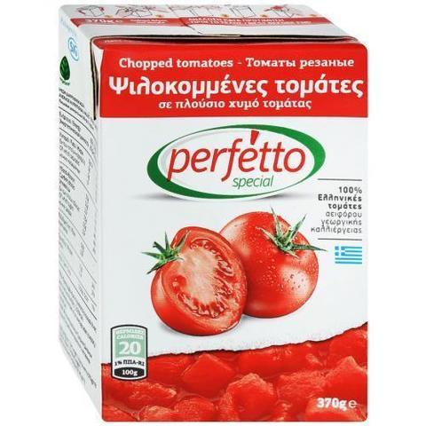 Томаты резаные очищенные в собственном соку Perfetto Special 370 г