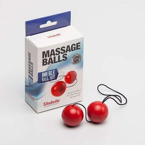 Красные массажные вагинальные шарики
