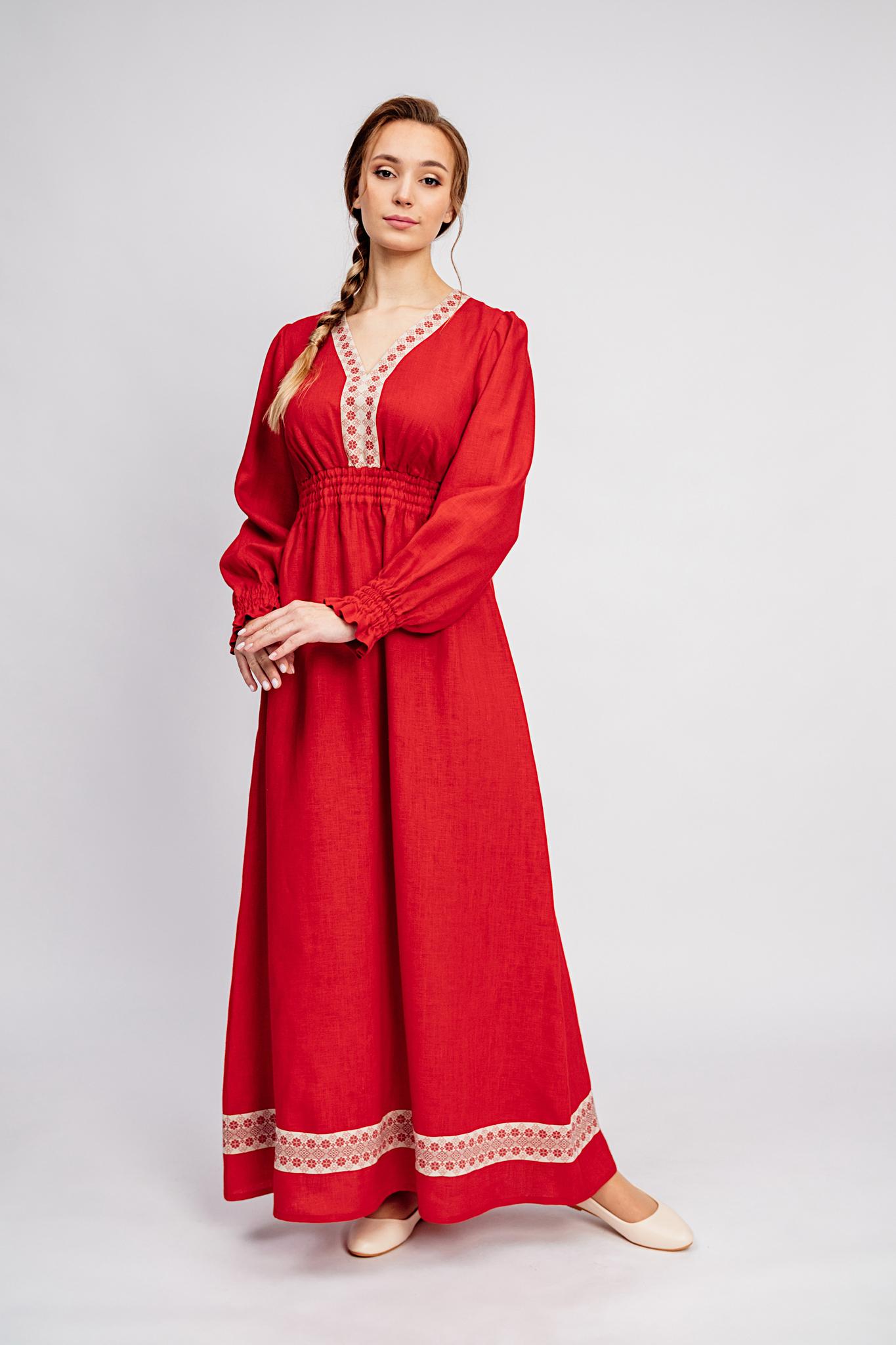Русское народное платье Утренняя роза