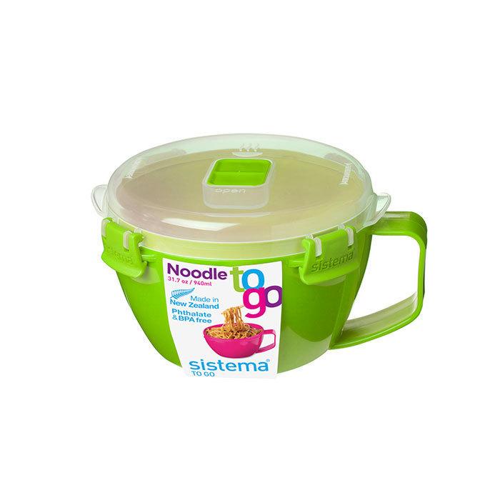 """Кружка для приготовления лапши в СВЧ Sistema """"Microwave"""" 940 мл, цвет Зеленый"""