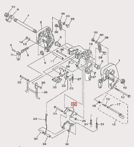 Пластина замка для лодочного мотора F9,9 Sea-PRO (21-32)